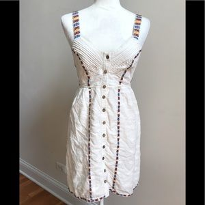Free People Ivory Embroidered Dress